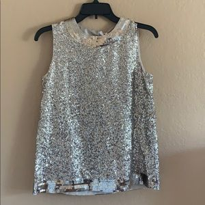 NWT kate spade sequined tank top